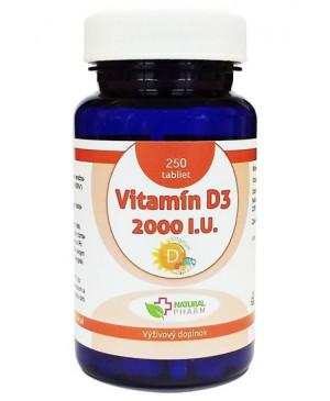 Vitamín D3 2000 I.U. tablety