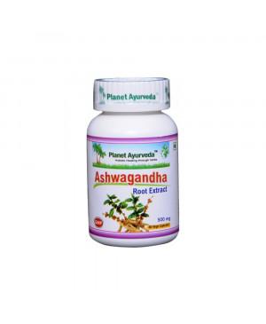 Planet Ayurveda Ashwagandha extrakt 10:1 500 mg 60 kapslí