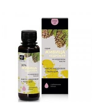 Cédrový olej s cédrovou živicou a peľ (kvetový)