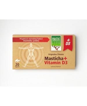 Mastichové Kapsuly MasticLife + Vitamín D3