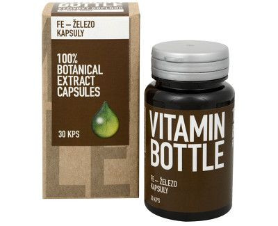železo vitamin bottle kapsuly