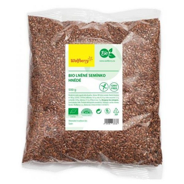 ľanové semienka hnedé wolfberry bio 500g