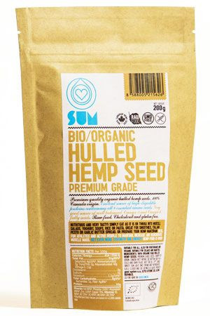 Konopné semienka lúpané Sum, Bio, premium quality