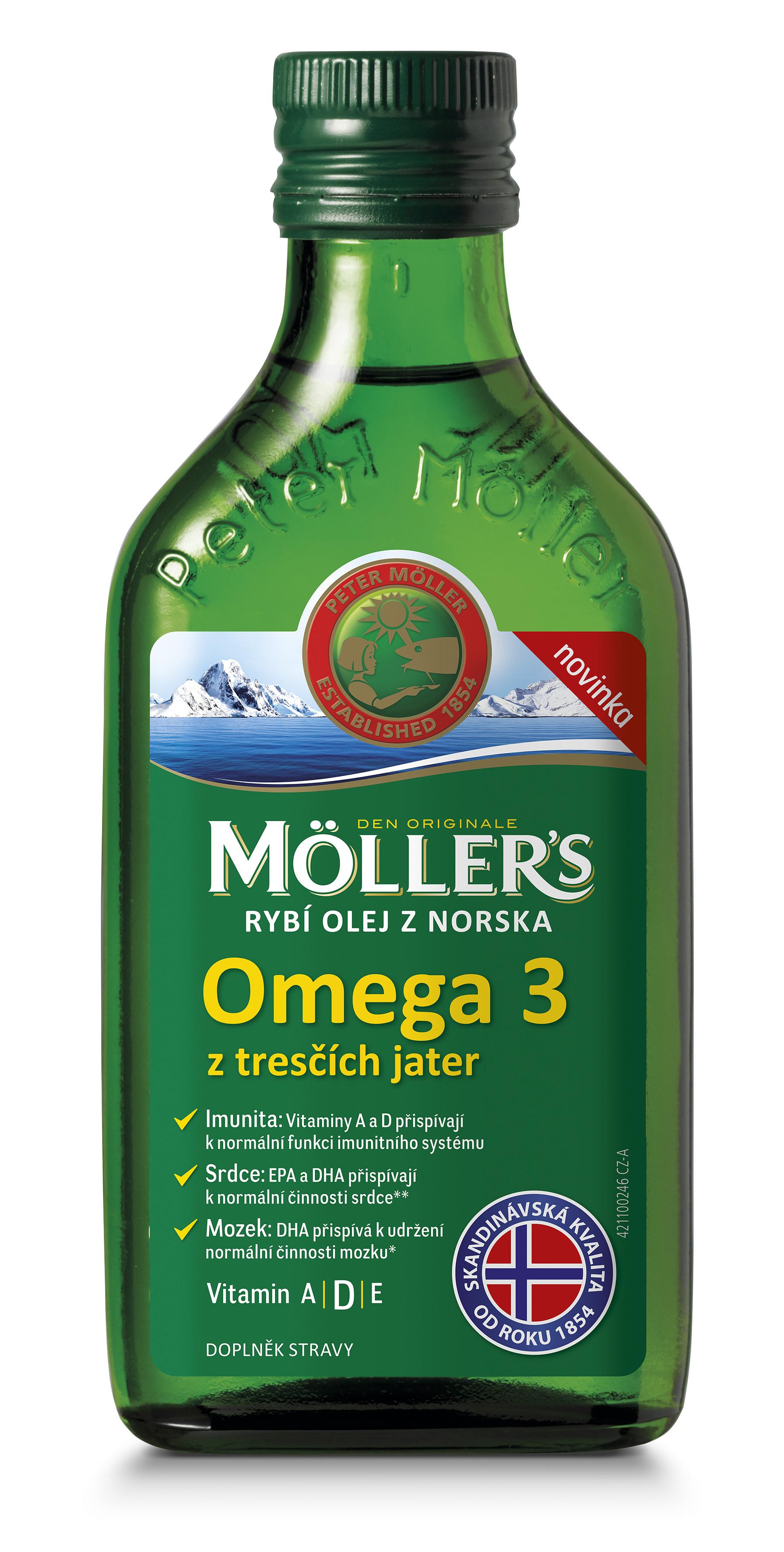 Möller's rybí olej z Nórska z treščích pečení