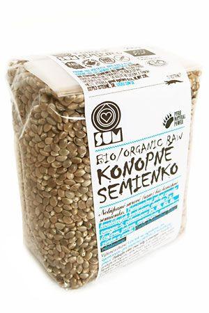 Konopné semienka Sum Bio Organic nelúpané