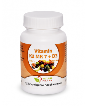 Natural Pharm Vitamin K2 MK-7 + D3 100 a 200 tablet