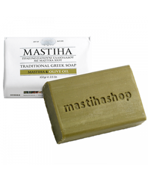 Tradiční řecké mýdlo s mastichou a olivovým olejem 100g