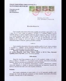 Úřad veřejného zdravotnictví - rozhodnutí o rybím oleji s jódem