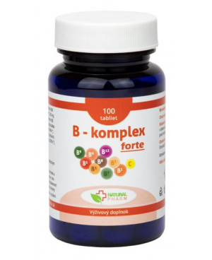 Natural Pharm B-komplex s vitaminem C 100 a 200 tablet