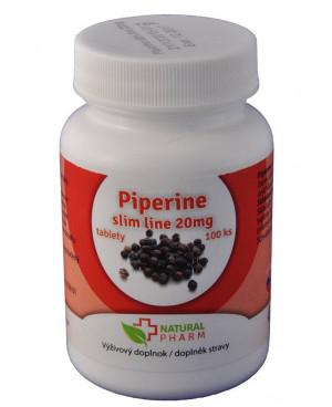 Natural Pharm Piperin slim line (přípravek na hubnutí) 20 mg 100 a 200 tablet
