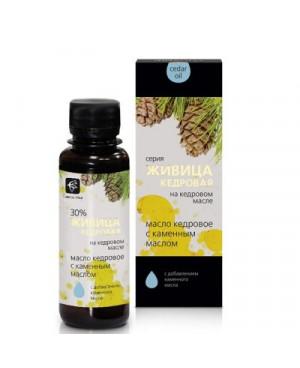 Cedrový olej s cedrovou pryskyřicí 30% a kamenný olej (bílé mumio) 100 ml