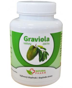 Natural Pharm Graviola (Annona muricata) 100 a 200 tablet