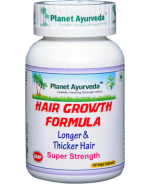 Planet Ayurveda Hair Growth Formula (Podpora vlasů) 500 mg 60 kapslí