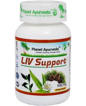 Planet Ayurveda Liv Support (Játra) extrakt 500 mg 60 kapslí