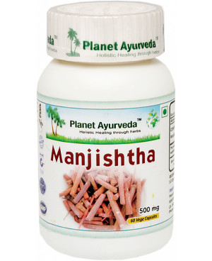 Planet Ayurveda Manjistha extrakt 10:1 500 mg 60 kapslí