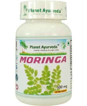 Planet Ayurveda Moringa extrakt 12:1 500 mg 60 kapslí