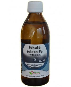 Natural Pharm Tekuté železo Fe + Vitamin C 300 ml
